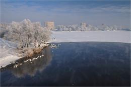 Зима на Мухавце / Снежная, морозная зима для Бреста - большая редкость.
