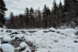 Зимний пейзаж / река Зеленчук, Архыз, Карачаево-Черкессия