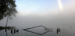 Рассвет,туман / Геометрия тумана....