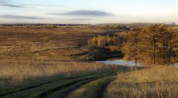 Рассвет.. / Поздняя осень на склонах пруда...