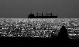 счетчик пароходов / черноморское побережье, близ Туапсе, август