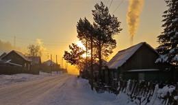 Подымается солнце II / Морозное январское утро. Тоджа, Тоора-Хем, Тува.