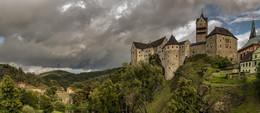 Замок Локет / город Локет. Чехия. Карловарский край. Панорама 7 кадров.