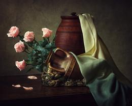 Про розовые розы / цветочный натюрморт