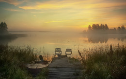 ..светает... / озеро Шлино