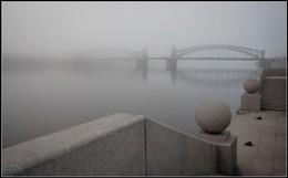 Утро туманное.... / Туманное утро в Питере(мост Петра Великого).....