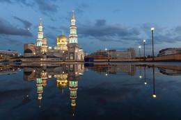 Московская соборная мечеть / Отражение в луже.