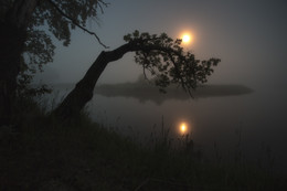 Ночная на японский лад / Лунная туманная ночь