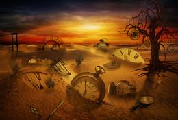 Время истекло / Компьютерное манипулирование фантазии часы потеряли в пустыне