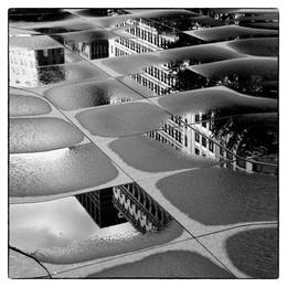 После дождя, отражение / Чикаго