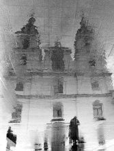 Со службы / Ilford XP2 super 400, скан Nikon 8000 Минский Свято-Духов кафедральный собор.Начался мелкий осенний дождь. Приятного просмотра!