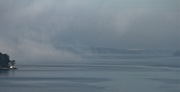 / Туманное утро. Осень.  Балтика. Ботнический залив