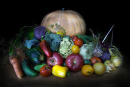 Овощной натюрморт / немного овощей