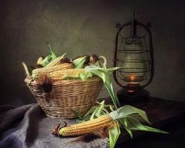 Натюрморт с кукурузой / классический натюрморт