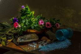россыпь / натюрморт, цветы, стекло