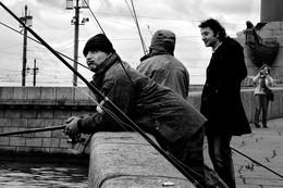 Рыбаки на Стрелке / Петербург
