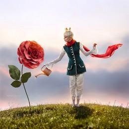 """The Little Prince"" / ""The Little Prince""  The project ""Fairy Kiev"" with the participation of Ukrainian stars. Model: singer Onuka"