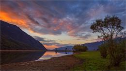 / Закат на озере Телецком.Алтай.