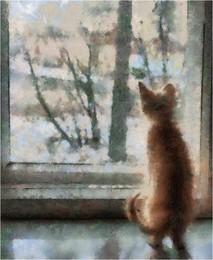 Персик / За окном - октябрь...
