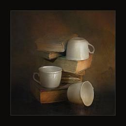 белые чашки / Digital art