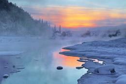 Там за туманнами... / Иркутская область Казачинско-Ленский район деревенька Ключи (вечерний морозец -33)