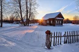 Пятничная зимовка / Уютный закат,  в Костромской губернии