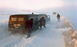 Дорожные страсти. / Дорога Норильск - Дудинка.
