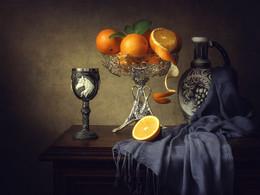 Натюрморт с апельсинами / классический натюрморт