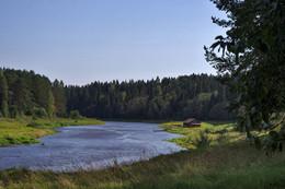 Тихий день. / Река Тверца, усадьба Василёво, Тверская область август 2016 г