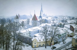 Старый город / Таллинн. 7 ноября 2016.
