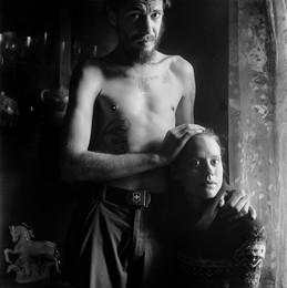 Максим и Катя (портрет с конем) / Витебск, 2016