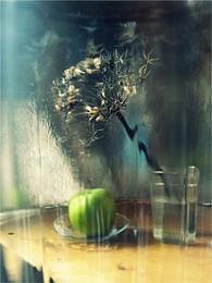 """""""Сон зелёного яблока в дождливое утро"""" / Снято через стекло"""