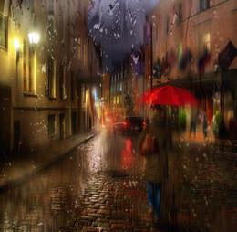 дождь в старом городе... / таллин