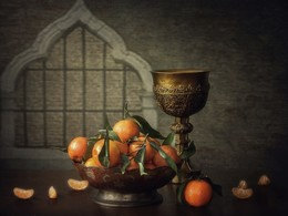 Натюрморт с мандаринами / классический натюрморт