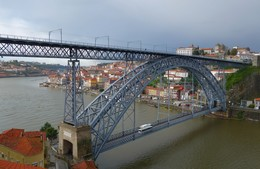 Хмурый Порту... / Мост Луиша II в Порту...