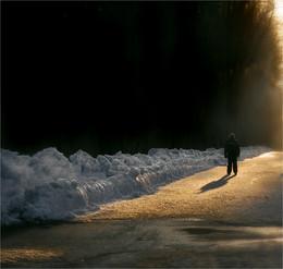 """Разделительная полоса / """"на закате дня, в гости ждал меня столь людимый лес..."""""""