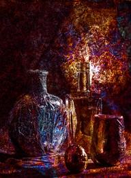 восточный / бутылка из под Ноя.фольга стакан