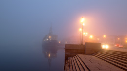 """""""Красин"""" в тумане. / ***"""