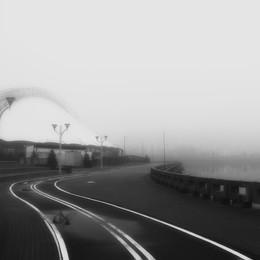 Немига / Туманное утро на Немиге.