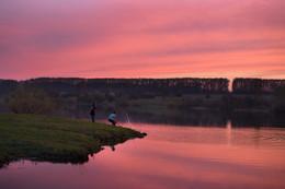 На озере / Закат на озере