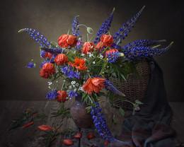 Краски лета / классический цветочный натюрморт