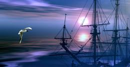 Уходят корабли... / в синие дали
