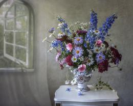 Летнее утро / цветочный натюрморт