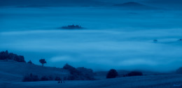 Синие туманы... / А я еду за туманом...