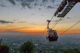 Закат в Алматы / Закат в Алматы, вид с горы Кок-Тобе.