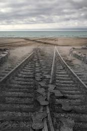 Следы на песке / Снимал на берегу Каспия