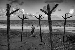 / утром на берегу...