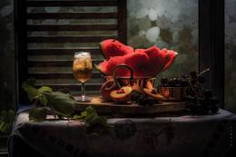 полдень / натюрморт, фрукты