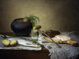 Крестьянский ужин на скорую руку / вкусный натюрморт