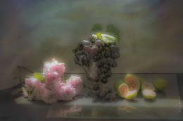 натюрморт с инжиром / натюрморт с инжиром и виноградом